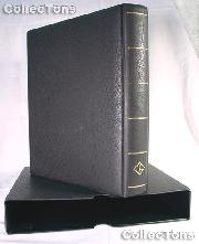 Lighthouse OPTIMA-F Coin Binder and Slipcase in Black