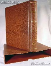 Lighthouse OPTIMA-F Coin Binder and Slipcase in Brown