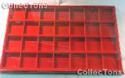 Horizontal Coin Tray for 2x2 Coin Holders in Red