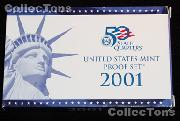 2001  U.S. Mint PROOF SET - 10 Coins