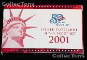 2001 U.S. Mint SILVER PROOF SET - 10 Coins
