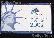 2002  U.S. Mint PROOF SET - 10 Coins
