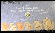 1991 U.S. Mint Uncirculated Set - 10 Coins