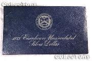 1973-S BLUE IKE EISENHOWER SILVER DOLLAR * BU