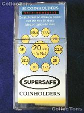 50 2x2 Self-Adhesive Cardboard Coin Holders CENT & DIME