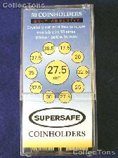50 Supersafe 2x2 Self-Adhesive Cardboard Coin Holders SMALL DOLLARS
