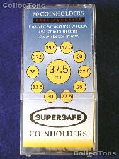 50 Supersafe 2x2 Self-Adhesive Cardboard Coin Holders 37.5mm