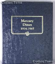 Mercury Dimes 1916-1945 Whitman Classic Album #9118