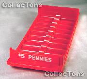 Color-Coded Plastic Coin Roll Tray for 10 CENT Rolls