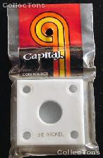 Capital Plastics 2x2 Holder - 3 CENT NICKEL in White