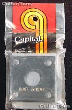 Capital Plastics 2x2 Holder - BUST 1/2 DIME in Black