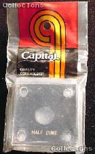 Capital Plastics 2x2 Holder - HALF DIME in Black