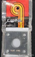 Capital Plastics 2x2 Holder - BUST DIME in Black