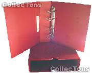 Lighthouse OPTIMA-G Coin Binder and Slipcase in Red