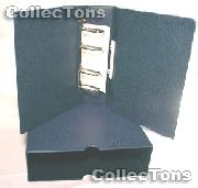 Lighthouse OPTIMA-G Coin Binder and Slipcase in Blue