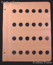 Dansco Blank Album Page for 16mm Coins