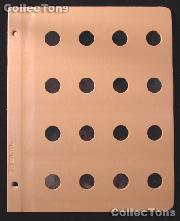 Dansco Blank Album Page for 18mm Coins