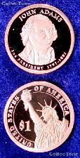 2007-S John Adams Presidential Dollar GEM PROOF Coin