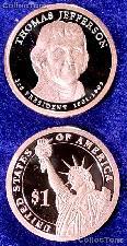 2007-S Thomas Jefferson Presidential Dollar GEM PROOF Coin
