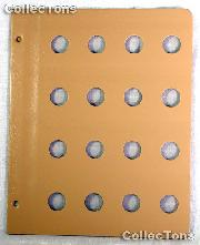 Dansco Blank Album Page for 19mm Coins