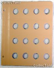 Dansco Blank Album Page for 22mm Coins