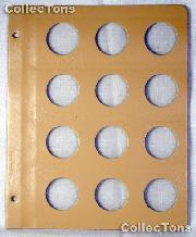 Dansco Blank Album Page for 34mm Coins