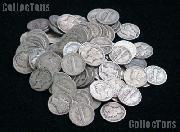 Mercury Silver Dime Rolls - 50 Coins