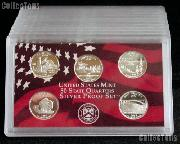 2005-S SILVER State Quarter Proof Set - 5 Coins