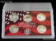 2006-S SILVER State Quarter Proof Set - 5 Coins