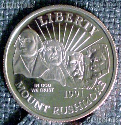 1991-S Proof Mount Rushmore Commemorative Half Dollars