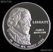 1993-S Proof Bill of Rights James Madison Commemorative Silver Dollars