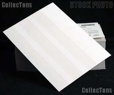 100 Lighthouse Approval Cards 3-Strip White Cardboard EKC6D/3W