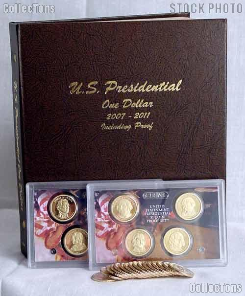Presidential Dollar Deluxe Album Set 48 Coins BU-Proof Starter Set
