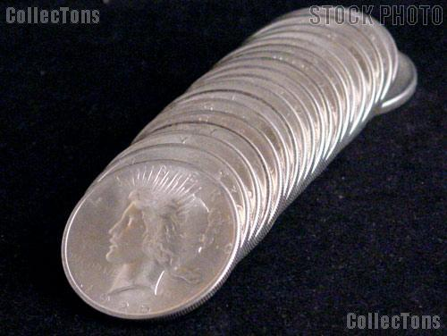 1925 BU Peace Silver Dollars from Original Roll