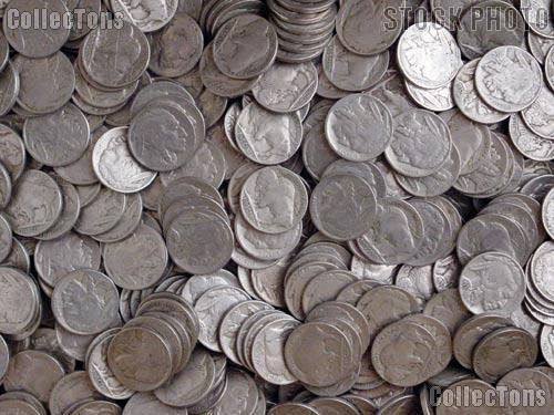 Buffalo Nickel Rolls - 40 Full Date Coins