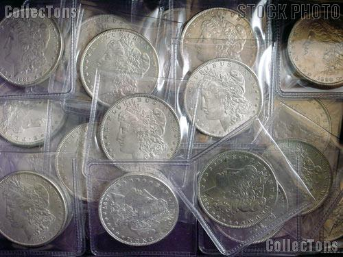 Morgan Silver Dollars 1878-1904 10 Coin Circulated Lot AU+ Condition