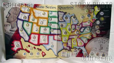 First State Quarters Of The US Map Collection Official United