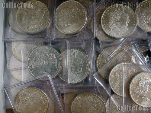 Morgan Silver Dollars 1878-1904 5 Coin Brilliant Uncirculated Lot BU Condition