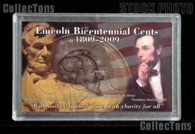 Harris 3x5 Permalock Holder LINCOLN BICENTENNIAL CENTS