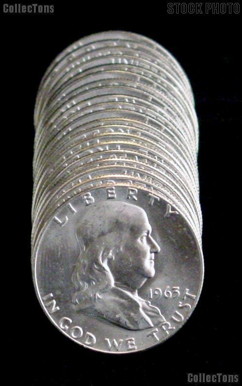 1963-D BU Franklin Half Dollar Rolls - 20 Coins