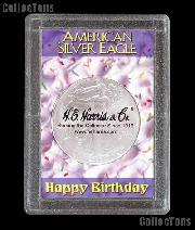 Harris 2x3 Happy Birthday Holder for SILVER EAGLES