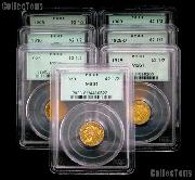 $2.50 Gold Indian Head Quarter Eagles in PCGS MS 61