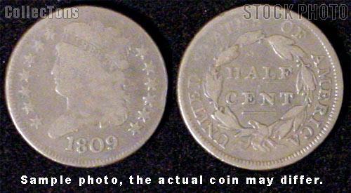 Classic Head Half Cent 1809-1836
