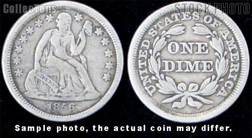 Liberty Seated Stars Dime 1838-1860 Variety 2