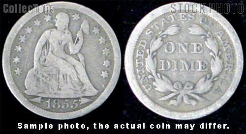 Liberty Seated Arrows At Date Dime 1853-1855 Variety 3