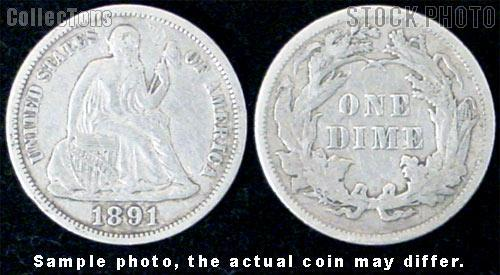 Liberty Seated Legend Dime 1860-1891 Variety 4 or 5