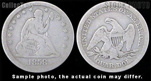 Liberty Seated No Motto Quarters 1838-1865 (V1)*3 Different Coins