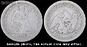 Liberty Seated No Motto Quarter 1838-1865 Variety 1