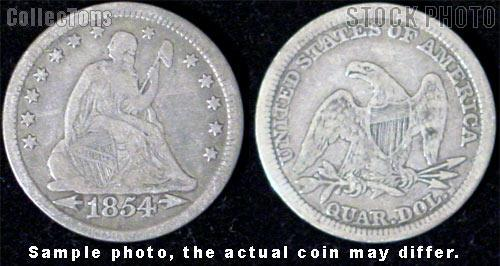 Liberty Seated Arrows At Date Quarter 1853-1855 (V2/V3)