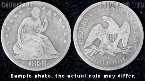 Liberty Seated No Motto Half Dollar 1839-1866 *3 Different Coins